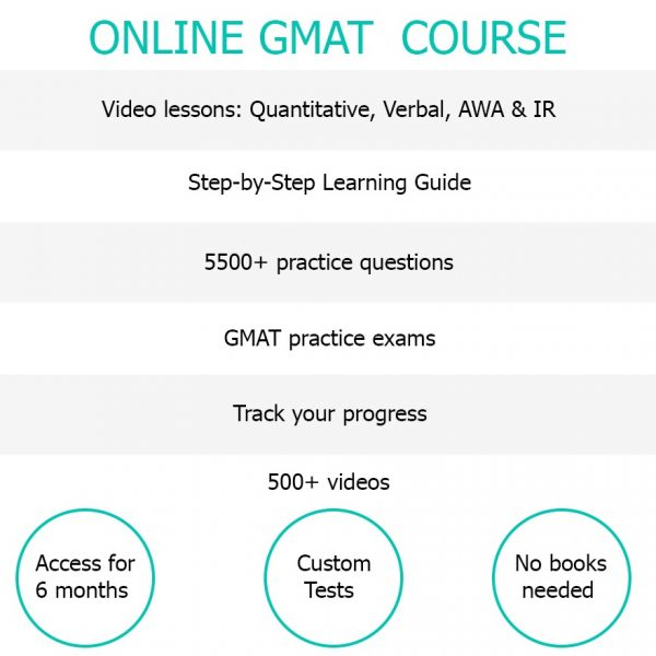 Advantages online gmat course